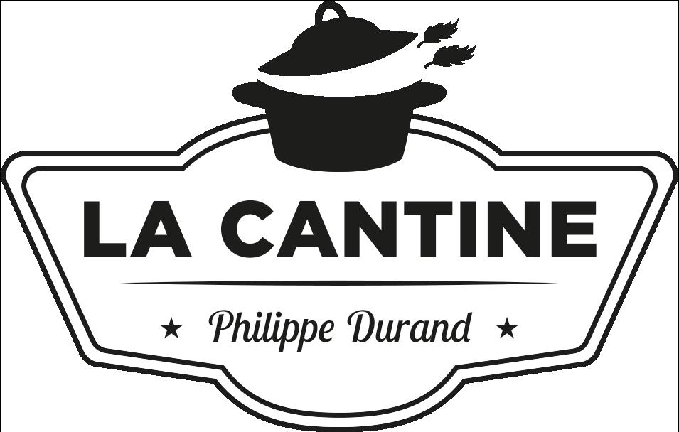 La Cantine - Logo noir et blanc du restaurant
