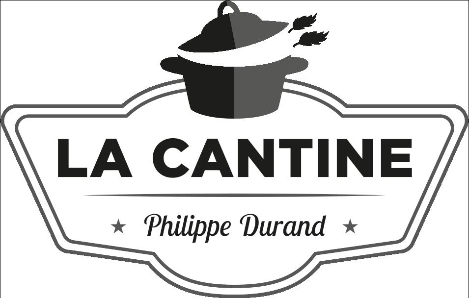 La Cantine - Logo en niveau de gris