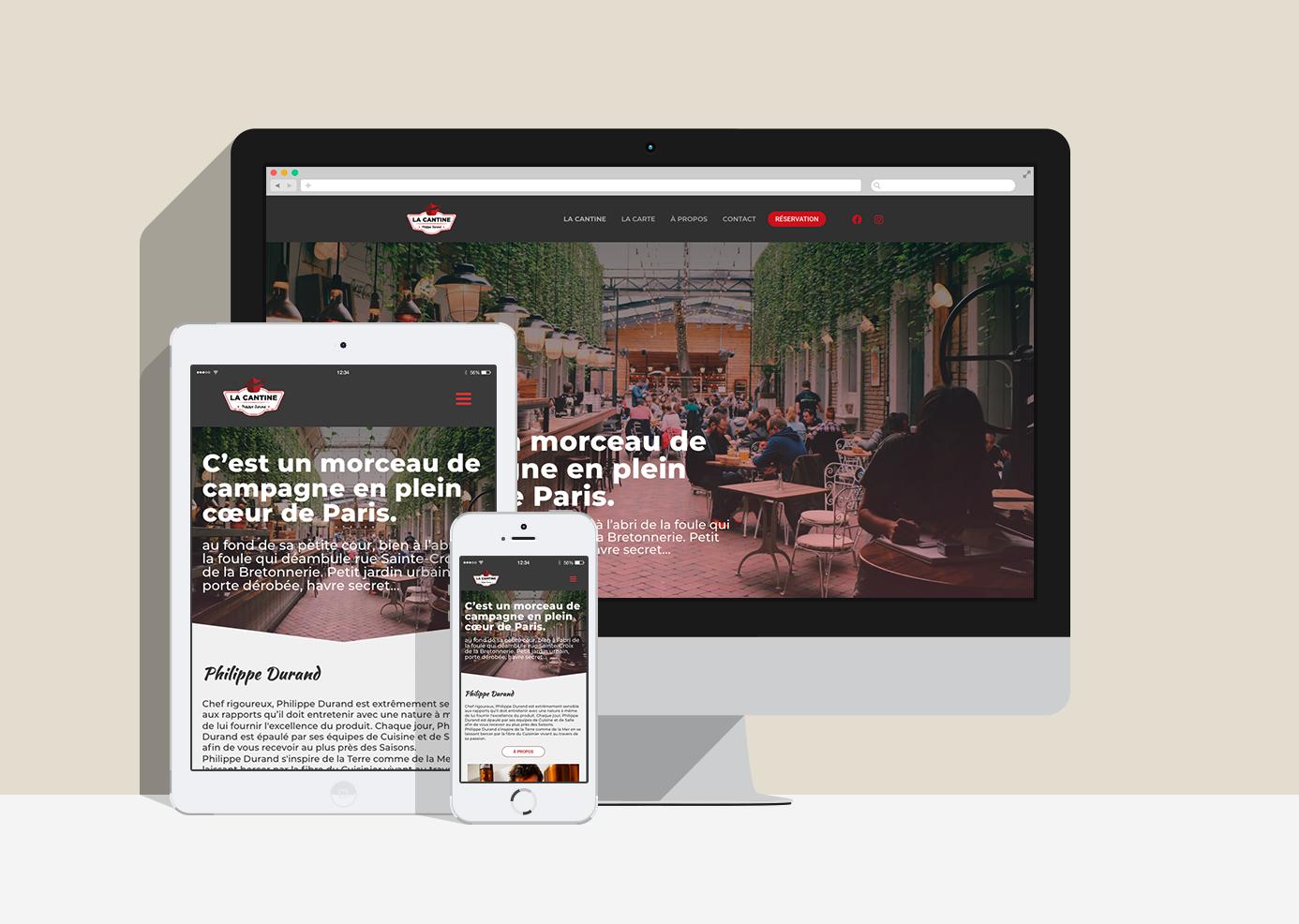 Web Design | La Cantine